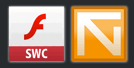 FlashDevelopで超絶簡単FatSWC作成